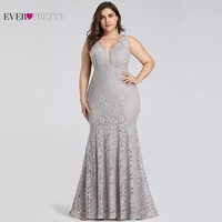 Plus Size Prom Dresses Mermaid Lace