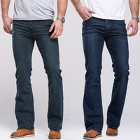 Mens Trendy Boot Cut Jeans