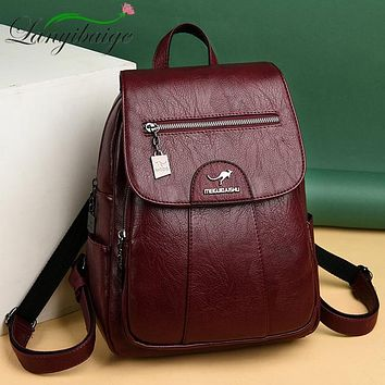 Women's High Quality Leather Backpack