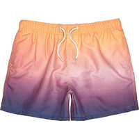 River Island MensPeach dip dye swim trunks