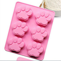 Dog Cat Paw Print Silicone Bakeware Mold Mould Chocolate Cookie Candy