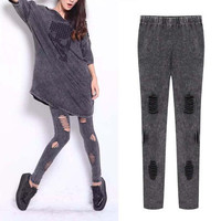 Women's comfy slim fit long pants leggings a13529