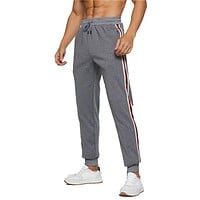 Men Casual Fitness Jogger Pants Trousers Sweatpants