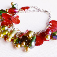 Christmas Charm Bracelet - Christmas Jewelry - Christmas Bracelet - Stocking Stuffers for Women - Gifts for Her - Gifts for Mom
