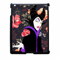 Malficient Disney Floral Vintage iPad 2 Case