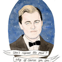 Jay Gatsby watercolour portrait PRINT The Great by ohgoshCindy