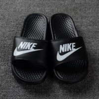 Nike couple slippers leisure beach slippers Fashion Black Letters