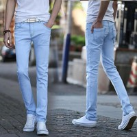 Jeans Winter Slim Stretch Thicken Casual Skinny Pants [277905080349]