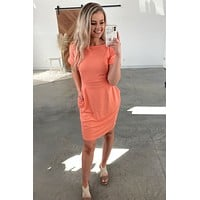 Every Moment Dress - Deep Coral