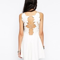 Free People Cha Cha Dress with Floral Applique