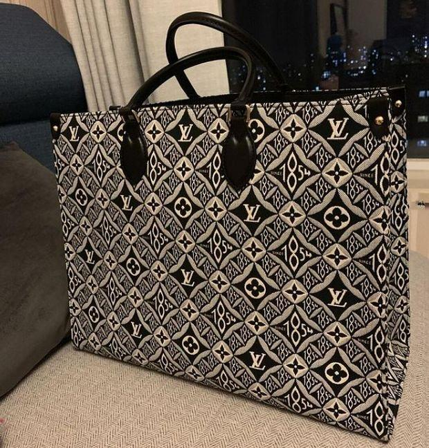 Image of Louis Vuitton Grey Since 1854 OnTheGo Tote GM Shoulder Bag