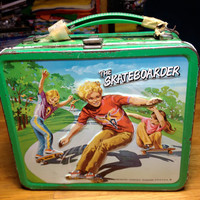 vintage Aladdin industries the Skateboarder metal lunch box lunchbox RAD