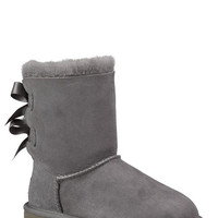 Ugg Bailey Bow Girls Boots Gray  In Sizes