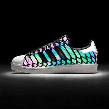 """Adidas"" Trending Vogue 3M Reflective Chameleon Casual Sports Shoes"