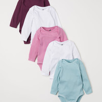 5-pack Bodysuits - Pink/turquoise - Kids | H&M US