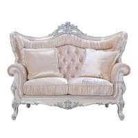 Italian Classic hand carved livingroom furniture antique fabric sofa sets