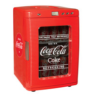 Coca-Cola Glass Front Fridge at Brookstone—Buy Now!