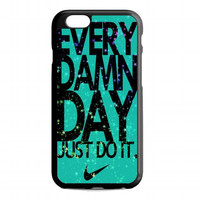 Mint Nike with Space Galaxy For iphone 6s case