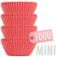 Mini Solid Salmon Pink Baking Cups 1000