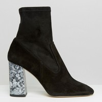 New Look | New Look Marble Heeled Bootc at ASOS