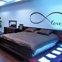 Personalized Infinity Symbol Bedroom Wall Decal Love Bedroom Decor Quotes Vinyl Wall Stickers 5 Butterflies Large Size Home Decor