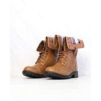 Final Sale - Adjustable Classic Combat Boots in Camel
