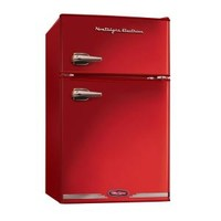 Nostalgia Electrics, Retro Series 3.1 cu. ft. Mini Refrigerator with Freezer in Red, RRF325HNRED at The Home Depot - Mobile