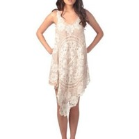 Romeo & Juliet Couture Womens Sleevless Crochet Lace Layered Dress: Amazon.com: Clothing
