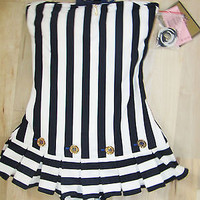jUICY COUTURE New $190 Sailor Girl One Piece Swimdress Swimsuit XS S M