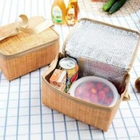 Lunch Box Insulated Food Thermal Cooler Picnic Bag