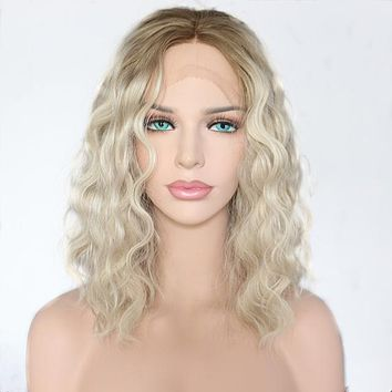 Rosabella- Front Lace Short Wavy Synthetic Wig