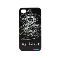 Unique Design Get Out Of My Life Cover My Mess Heart Print Case for iPhone