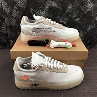 Morechoice Tuhz Off White X Air Force 1 Low The Ten Sneakers Casual Skaet Shoes Ao4606-100