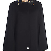 Fendi - Embellished Double-Faced Wool Cape - Saks Fifth Avenue Mobile