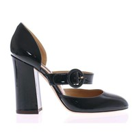 Green Patent Leather Mary Janes Shoes