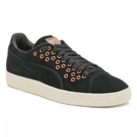 PUMA Womens Black Suede XL Lace Trainers