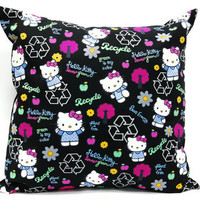 Hello Kitty Throw Pillow cover - 18x18inch Decorative pillow case, envelope closure