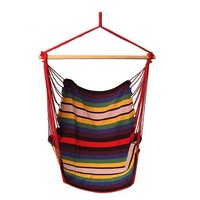 Garden Cotton Patio Porch Hanging Rope Swing Chair