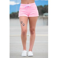 Hot Pink French Terry Shorts