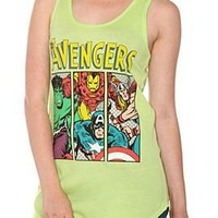 Marvel Universe The Avengers Lime Girls Tank Top - 148377
