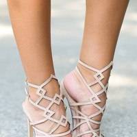 For Every Occasion Nude Caged Heels