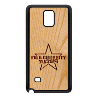 Carved on Wood Effect_Celebrity Hater Black Silicon Rubber Case for Galaxy Note 4 by Chargrilled