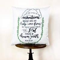 Trust in the Lord   Pillow Cover   Psalm 121   Serve the Lord   18 x 18   Throw Pillow   Home Decor