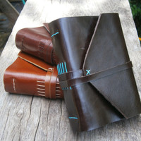 """Old Times Leather Journal / Handmade / 6x4"""" / Free Initials"""