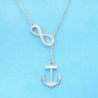 Infinity, Anchor, Best, Friend, Necklace, Nautical, Bridesmaid, Birthday, Necklace, Gold, Silver, Gift, Jewelry