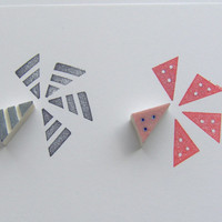 Triangle stamp, set of 2, small triangle rubber stamp, geometric stamp, mini rubber stamp, stamp, rubber stamp, triangle, card making