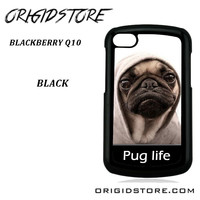 New Design Funny Hilarious Pug Life Parody Fans For Blackberry Q10 Case UY