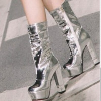 The new high heel boots are a hit shoes