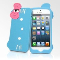 Hello Kitty Bow Cam Series iPhone 5 Cases - Light Blue