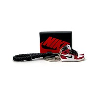 3D Sneaker Keychain- Air Jordan 1 High Spider-Man Origin Story Pair